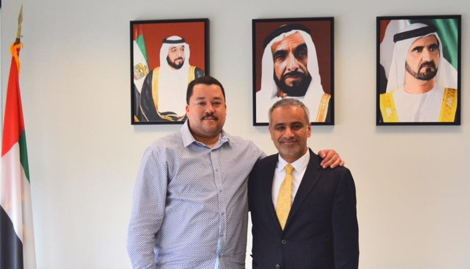 Master Al-Nasser Meets UAE General Consul In Los Angeles